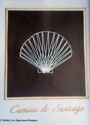 Camino de Santiago Souvenirs Scallop Shell String Card