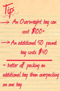 Overpack or Additional Bag