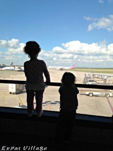expat kids flying home