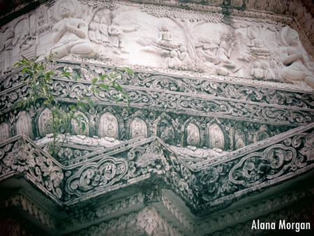 Wat Pan Whalen Chedi with Greenery