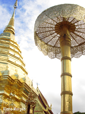 Wat Phra Doi Suthep Chedi & Umbrella