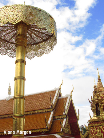 Wat Phra Doi Suthep Umbrella and Temple