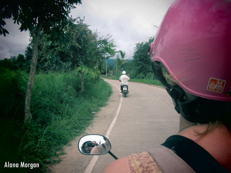 Riding through Pai, Thailand