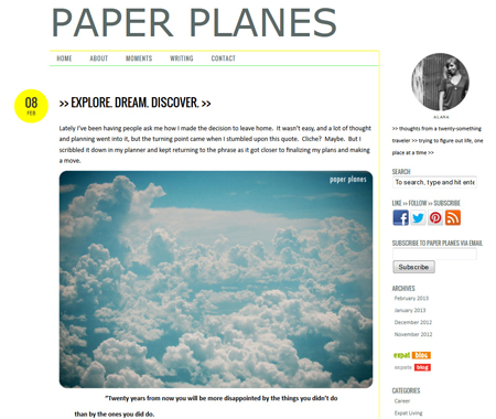 The Paper Planes Blog