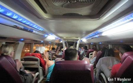 Night bus in Vietnam