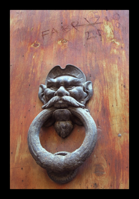 Ornate Door Knocker,  Evil door knocker, Fabrizio