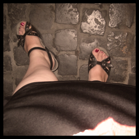 Solo travel, self portrait, Rome, Italy, shoes