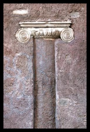 Rome, Roman Architecture, Ionic Column