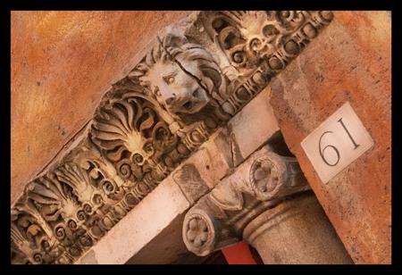 Rome, Italy, Roman Lion, Ionic Pillars