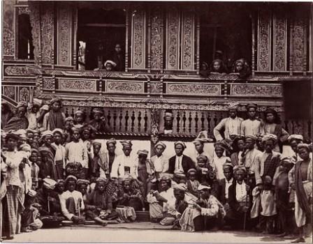 Albumen print of Indonesians