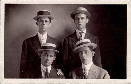 Four Men in Hats