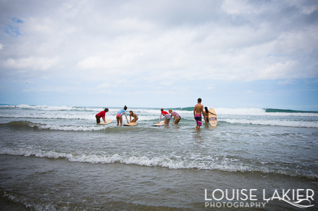 A surf lesson with Liz Hart-Behrens begins at Playa Maderas in Nicaragua
