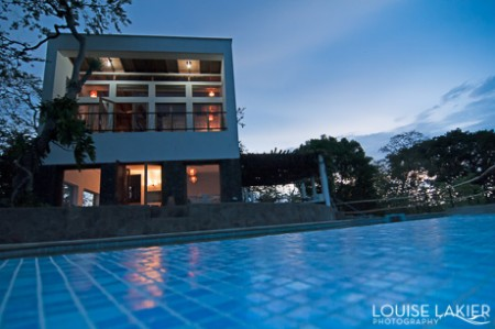 A modern home on the asese peninsula overlooks the isletas near Granada, Nicaragua.