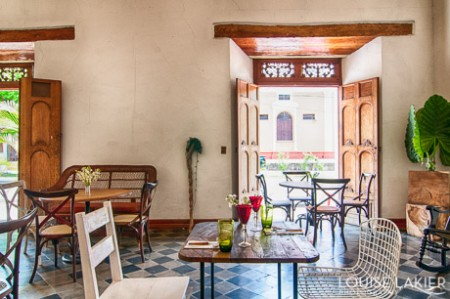 A Cafe in Granada Nicaragua with art you can eat.
