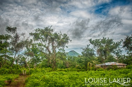 The view of Volcano Concepcion from El Porvenir farm on Ometepe Island