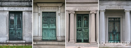 Mausoleum Doors in Oakwoods Cemetery & The Mausoleum Doors of Oakwoods Cemetery