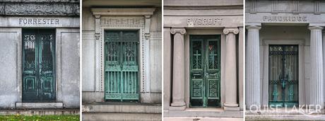Mausoleum Doors in Oakwoods Cemetery