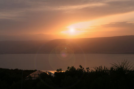 Sunset Sea of Galilee