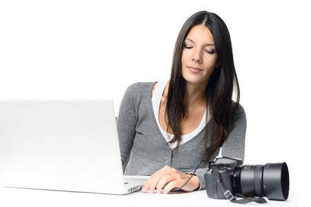 Woman Hooking Up Camera