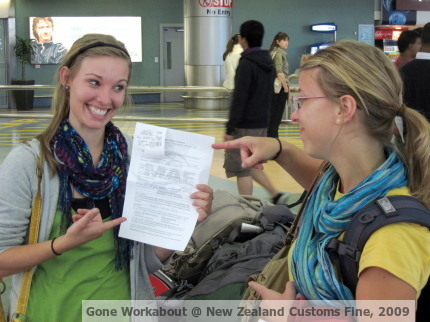 New Zealand Customs Fine