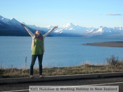 Kelli Mutchler, Working Holiday in New Zealand