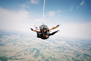 Skydiving over Cushing