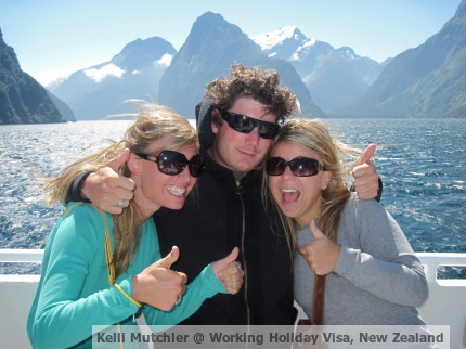 working holiday visa with friends, New Zealand