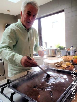 Making gravy for Thanksgiving