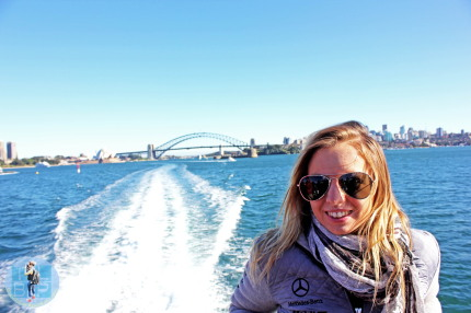 The Little Backpacker whale watching Sydney