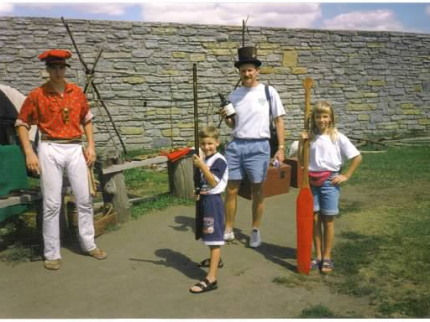 Fort Mackinac traveling with my dad