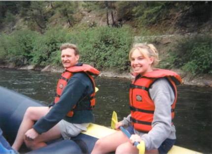 kayaking traveling with my dad