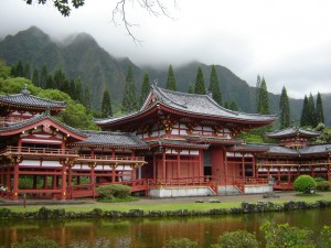 Byodo Temple, Kaneohe, Hawaii on the island of Oahu.