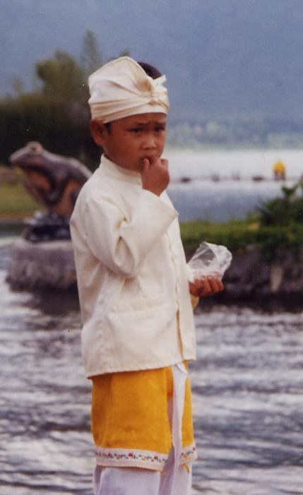 Photo of The Day: Balinese Boy at Temple