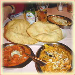 A meal at Nirwana Indian Restaurant