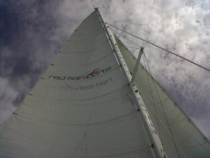 Our Cayman Island Sailboat, provided by Red Sail Sports.