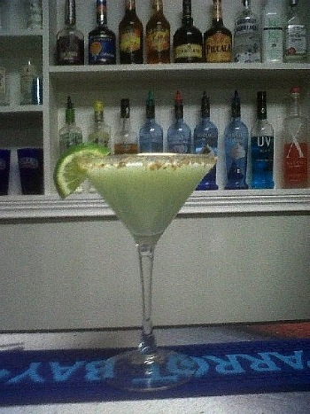 Key Lime Pie Martini; A little bit of the tropics comes home