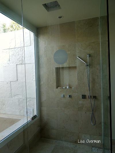 Rain shower bath