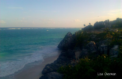 The beach at Tulum, Mexico.