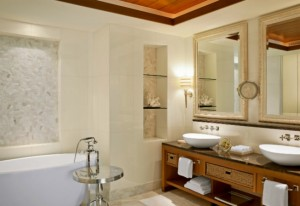 Four Luxury Hotel Bathrooms