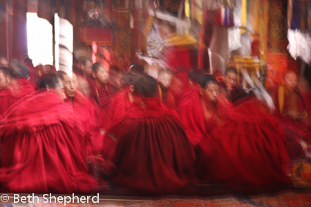 Tibetan monks chanting