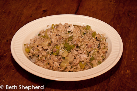 The last of the leftovers: Turkey Leek Risotto