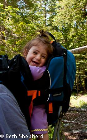 Happy hiker, Wonderland Trail, Mt. Rainier