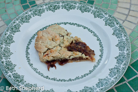 Slice of Rustic onion tart