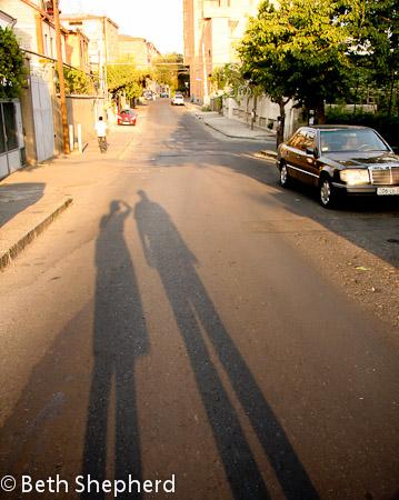 Yerevan shadows, Armenia