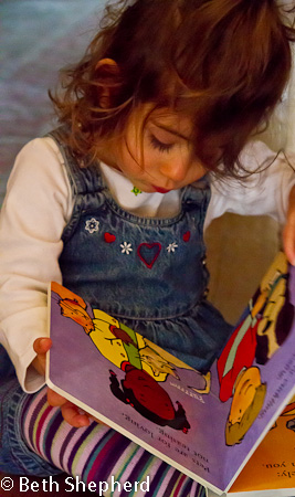 A baby and her books 6