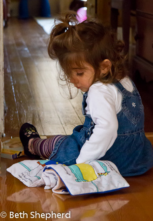 A baby and her books 9