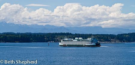 Ferry across Puget Sound