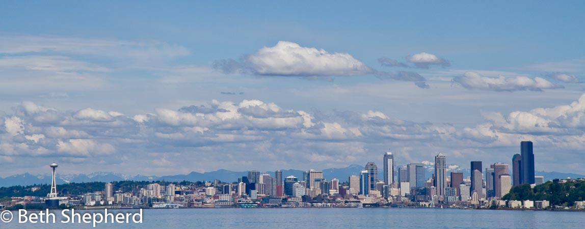 Seattle from the ferry on Puget Sound