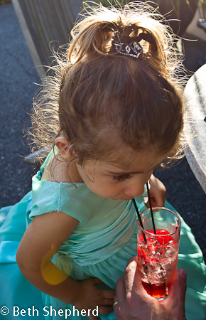 Sipping Shirley Temple