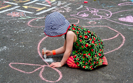 Hopscotch and art
